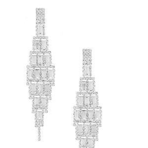 NWT, Cezanne Long Dangle Crystal Earrings